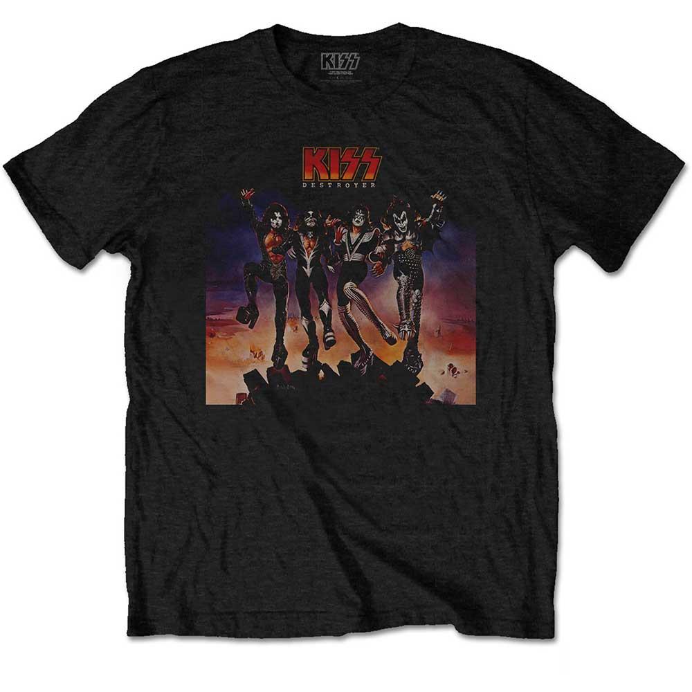Kiss - Tričko Destroyer - Muž, Unisex, Čierna, XXL
