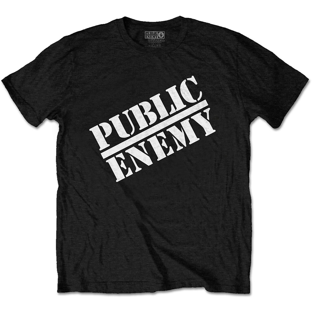Public Enemy - Tričko Logo - Muž, Unisex, Čierna, L
