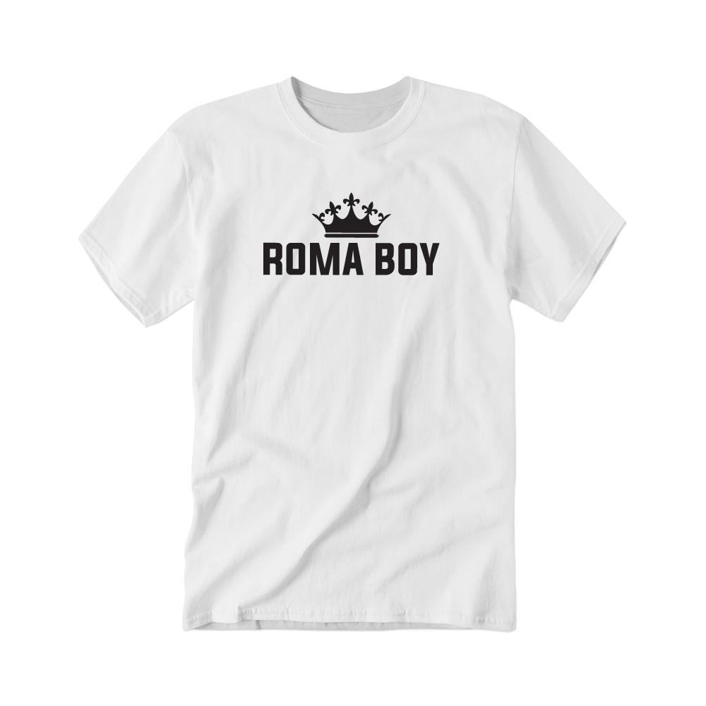 Jan Bendig - Tričko Roma Boy - Muž, Biela, XXL