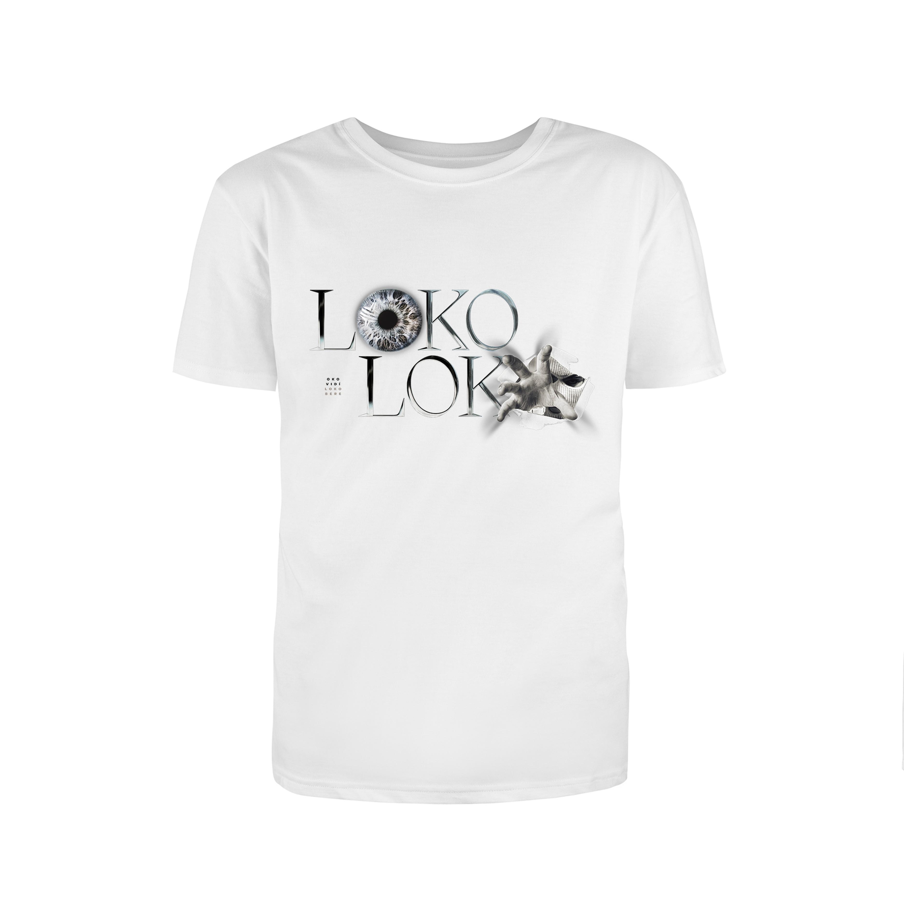 Loko Loko - Tričko Loko Bere - Muž, Biela, XXL