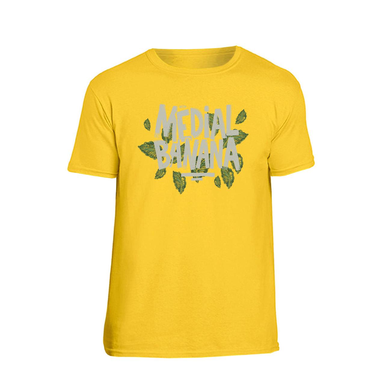 Medial Banana - Tričko Leafy - Muž, Žltá, M