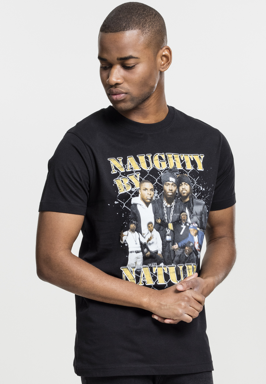 Naughty By Nature - Tričko 90s Tee - Muž, Čierna, S