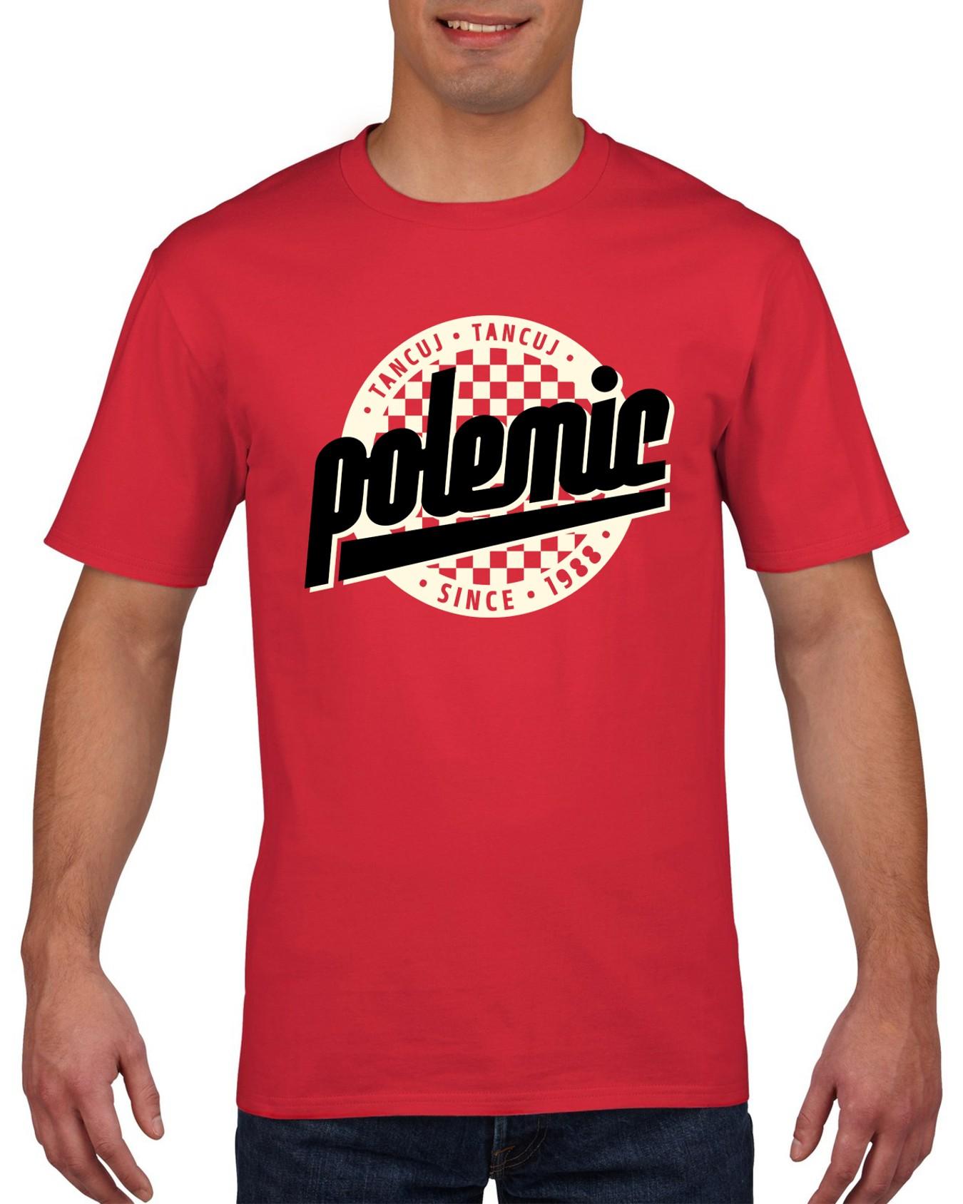Polemic - Tričko Logo - Muž, Červená, XL