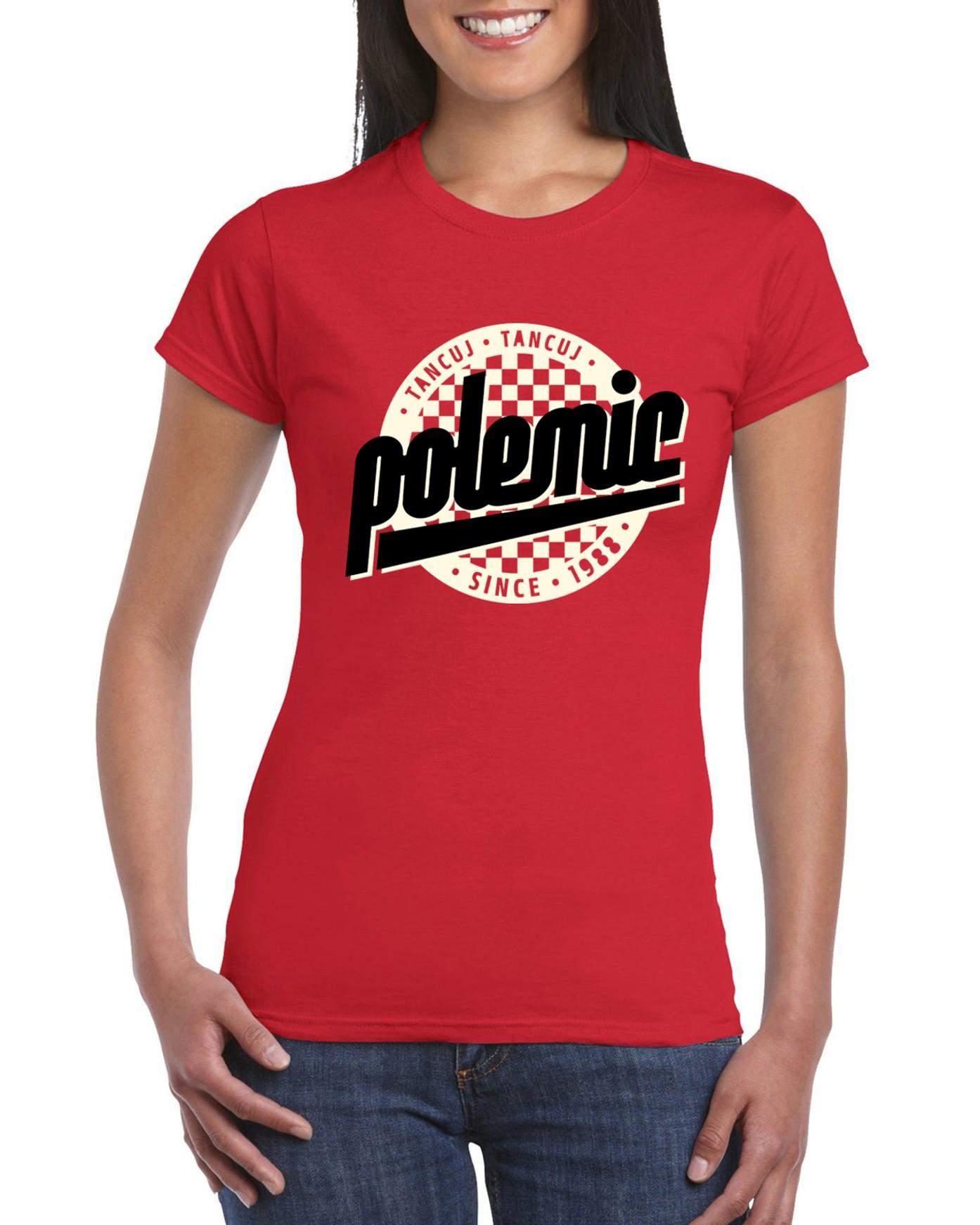 Polemic - Tričko Logo - Žena, Červená, XL