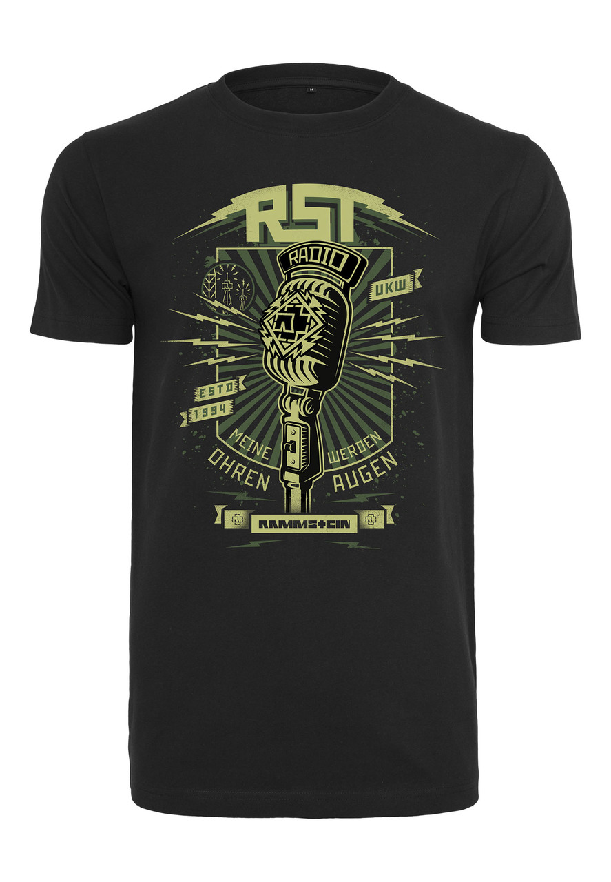Rammstein - Tričko Radio Tee - Muž, Čierna, XXL