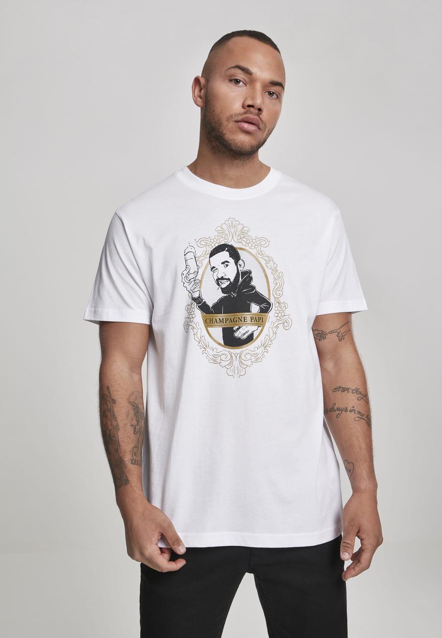Drake - Tričko Champagne Papi - Muž, Biela, XXL